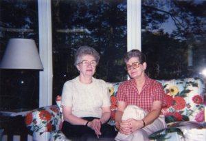Shreveport, LA  1987 with her older sister (on her right).